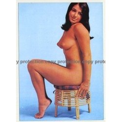 Nude Showgirl Wanda / Akt-Studio X - Kurfürstendamm (Vintage PC Berlin 1960s)