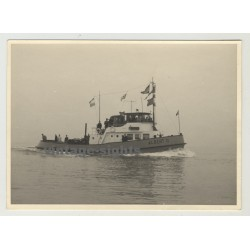 Binnenschlepper Albert II / Barge Albert II (Vintage Photo: Germany 1950s)