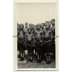 Congo-Belge: Group Of Indigenous Kids - Adolescents / Rite (Vintage Photo B/W 1929)