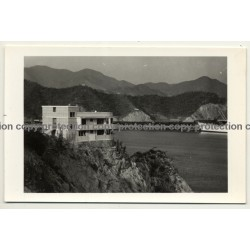 Santa Marta / Columbia: Restaurant On Cliff / M.S. Bremerhaven (Vintage RPPC Gutierrez 1959)