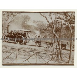 Angola: Road Locomotive On A Street In Ebo (Vintage Sepia Photo ~1920s)