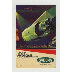 Fly Boing Jet International / Sabena Belgian World Airlines (Vintage Luggage Label)