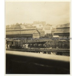 Congo-Belge: Approaching Matadi With Ship / Quay (Vintage Photo B/W 1930)