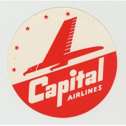 Capital Airlines / US Airline (Vintage Luggage Label)
