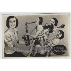 Orchestre Andrée Rosès / Soldatenheim La Brune - Paris / 5 Signatures (Vintage Postcard)