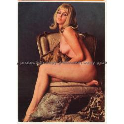 Nude Showgirl Kathy / Akt-Studio X - Kurfürstendamm (Vintage PC Berlin 1960s)