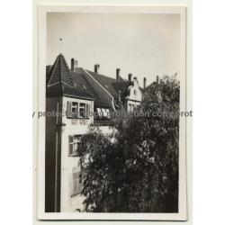 70178 Stuttgart / Germany: View Onto Knospstr. 7 (Vintage Photo B/W 1931)