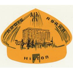 Hilton - Addis Ababa / Ethiopia (Vintage Luggage Label)