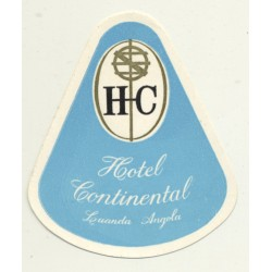 Hotel Continental - Luanda / Angola (Vintage Luggage Label)