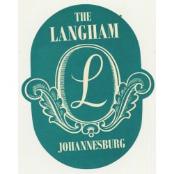 The Langham / South Africa (Vintage Luggage Label)