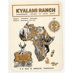 Kyalami Ranch / South Africa (Vintage Luggage Label)