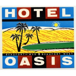 Hotel Oasis - Beaufort-West / South Africa (Vintage Luggage Label)