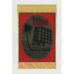 Hotel Cariver - Puerto de la Cruz / Tenerife (Vintage Luggage Label)