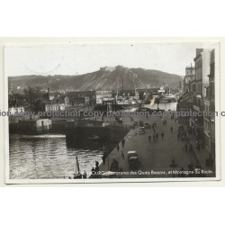 Cherbourg - France: Panorama Des Quais Bassins (Vintage RPPC 1941)