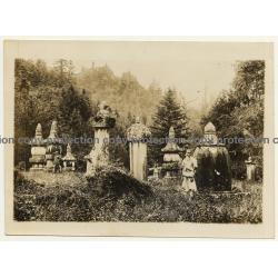 Chosen / Korea: Old Gravestones - Wittnesses Of Old Korean Culture (Vintage Press Photo ~1930/1940s)