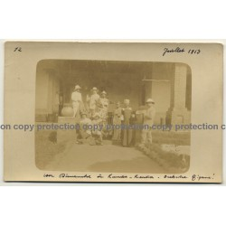 Congo - Belge: Orchestre Tzigane / Sinti Orchestra (Vintage Photo Sepia 1913)