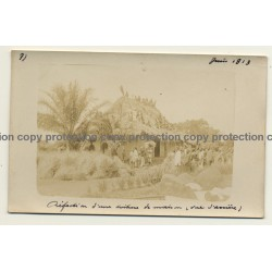 Congo - Belge: Indigenous & Colonial Masters / Hut (Vintage Photo Sepia 1913)