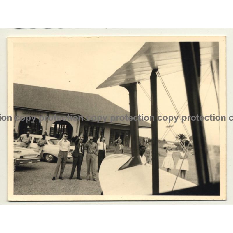 Bakwanga / Congo - Belge: Departure Of Double Decker / Sabena? (Vintage Photo ~ 1950s/1960s)