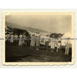 Congo - Belge: Sabena OO-AIP On Airfield / Fokker F-VIIb/3m (Vintage Photo ~ 1930s/1940s)