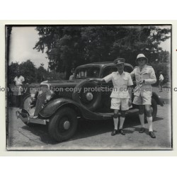 Congo - Belge: Police Inspectors / Ford C Coupe (Vintage Photo ~ 1940s/1950s)