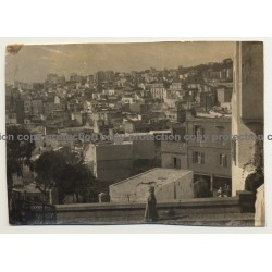 Langiers / Algiers: Panorama View Over Town (Vintage Photo B/W ~1910s/1920s)
