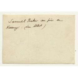 Congo - Belge: Samuel Baker On Pier De Kasengi / Lac Albert (Vintage Photo ~ 1890s/1900s)