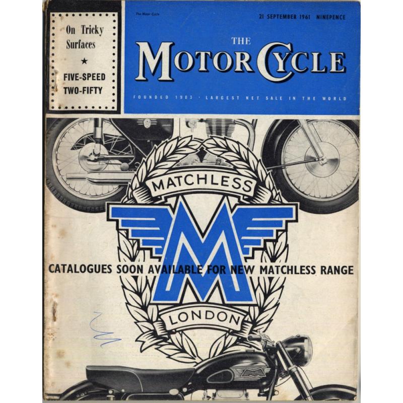 The Motor Cycle / 21 September 1961 (Vintage UK Bike Magazine)