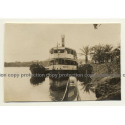 Congo - Belge: Steamship Meuse & Barges At River Shore (Vintage Photo ~1920s/1930s)