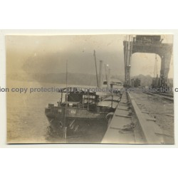Congo - Belge: Steambarge 012 At Port Facility (Vintage Photo ~1920s/1930s)
