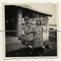 Congo - Belge: Belgian Officer With Wife & Baby / Dogs (Vintage Photo ~1920s/1930s)