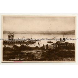 Pier, Mossel Bay / South Africa (Vintage RPPC B/W)
