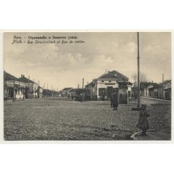 Nisch - Niš / Serbia: Rue Strachinitsch Et Rue De Métier (Vintage Postcard)