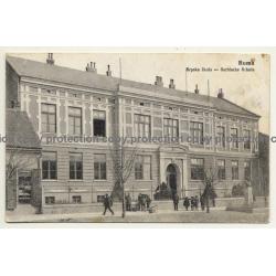 Ruma / Serbia: Srpska Skola - Serbische Schule (Vintage Postcard 1915)