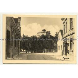 10000 Zagreb / Croatia: Ilirski Trg (Vintage RPPC 1941)