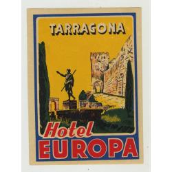 Hotel Europa - Tarragona / Spain (Vintage Luggage Label)