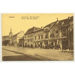 Mehádia / Romania: Hauptstrasse - Church - A. Brauch's Sohn (Vintage Postcard ~1900/1910)