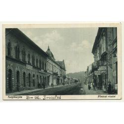 Salgótarján / Hungary: Main Street / Föutcai Részlet (Vintage Postcard 1929)