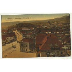 Szászváros - Broos - Orastie / Romania: Street & Church (Vintage Postcard 1913)