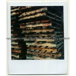 Photo Art: Wooden Pallets (Vintage Polaroid 1980s)
