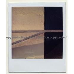 Photo Art: Wall / Gate Study - Surfaces (Vintage Polaroid 1980s)