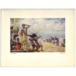 Allard L'Olivier: Kivu Agricole (Vintage Art Print 32 x 25.5 CM ~1930s)