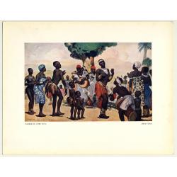 Fernand Allard L'Olivier: L'Arbre Du Chef. Kivu (Vintage Art Print 32 x 25.5 CM ~1930s)