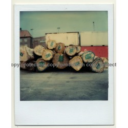 Photo Art: Wooden Logs III (Vintage Polaroid SX-70 1980s)