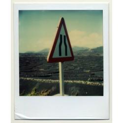 Photo Art: Narrow Road (Vintage Polaroid SX-70 1980s)