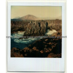Photo Art: Volcanic Coast Line (Vintage Polaroid SX-70 1980s)