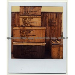 Photo Art: Wooden Shipping Crates II (Vintage Polaroid SX-70 1980s)