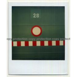 Photo Art: Passage Forbidden / Durchfahrt Verboten (Vintage Polaroid SX-70 1980s)