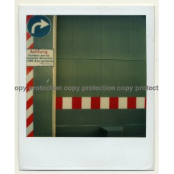 Photo Art: Passage Forbidden / Durchfahrt Verboten (Vintage Polaroid SX-70 1980s)