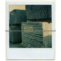 Photo Art: Stone Blocks Brasil (Vintage Polaroid SX-70 1980s)