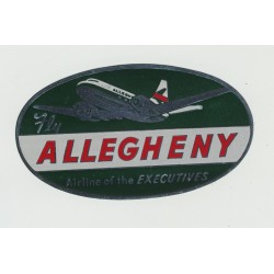 Fly Allegheny - Airline Of The Executives (Vintage Luggage Label)